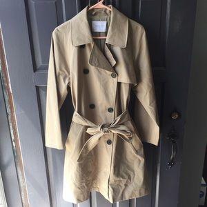Everlane khaki trench coat jacket